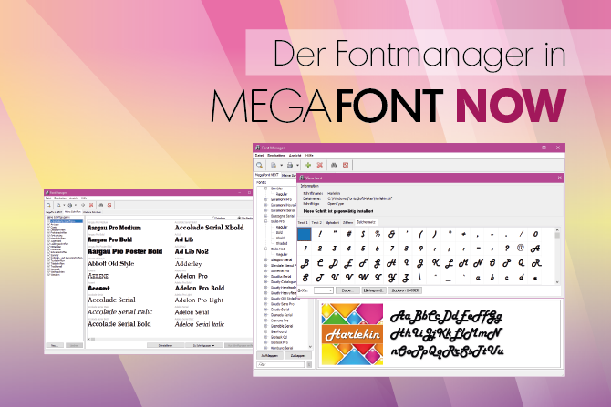 Der Fontmanager in MegaFont NOW